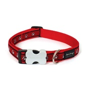 Red Dingo - Red Pawprints Collar