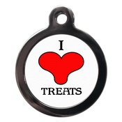 PS Pet Tags - I Love Treats Pet ID Tag