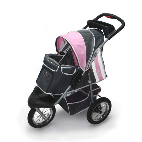 Buggy Comfort with Airfilled Tyres - Pink/Grey