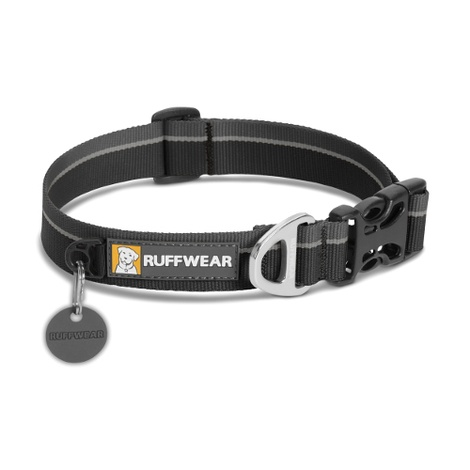 Hoopie Dog Collar - Obsidian Black