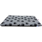 Hem & Boo - Paws Fleece Crate Mat - Grey