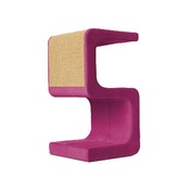 Catworks - Scratching Post - Letter S - Pink