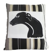 Tomato Catshop - Greyhound Panel Onyx Cushion