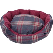Hem & Boo - Tartan Check Oval Dog Bed