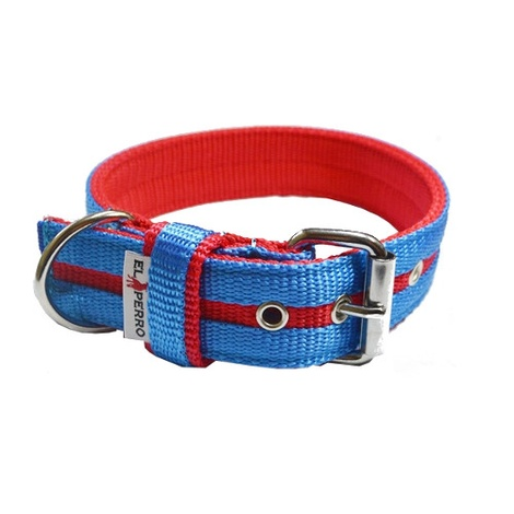 Candy Strip Collar - Red & Sky Blue