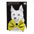Neon Leapard Dog Bow Tie 2