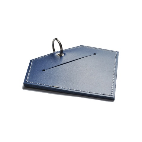 Leather Diamond Poo Bag Pouch - Navy 3