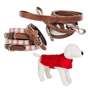 Mutts & Hounds - Cranberry Set - Dog Coat, Collar and Lead