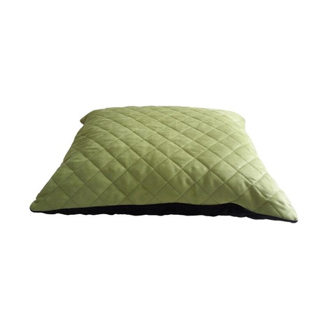 Quilted Cushion Dog Bed - Black & Green