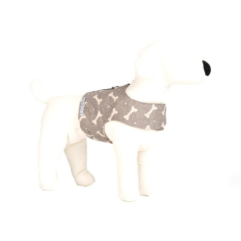 Mushroom Bone Linen Dog Harness