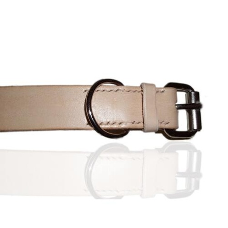 Natural Leather Dog Collar 2