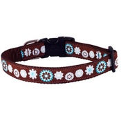Woof and Meow - Blue Floral Dog Collar