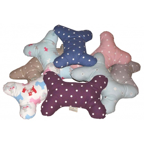 Dog Bone Pillow - Dotty Denim 2