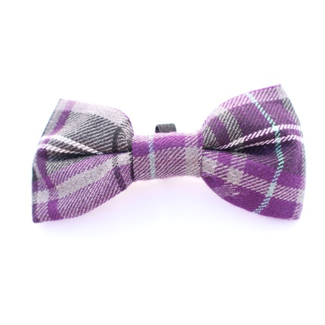 Purple Tartan Bow Tie