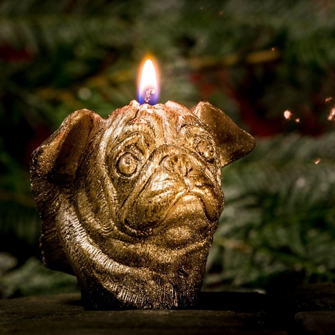 Winged Pug Candle - Bronze 3