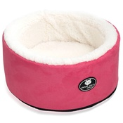 Cool Dog Club - Cool Cat Snuggle & Snooze Pet Cat Bed in Pink