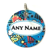 Ditsy Pet - Superhero ID Tag