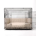 Dog Crate Mattress & Bed Bumper Set - Dotty Taupe 3