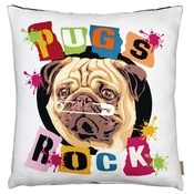 The Graduate Collection - Pugs Rock Cushion