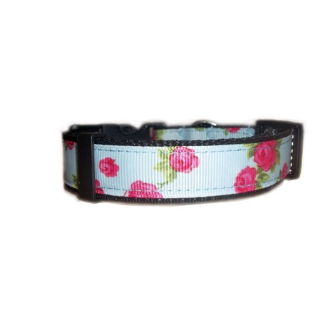 Vintage English Rose Dog Collar 3