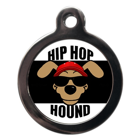 Hip Hop Hound Dog ID Tag