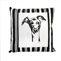 Whippet Butcher Stripe Panel Cushion