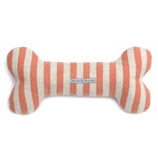 Mutts & Hounds - Orange Striped Squeaky Bone Dog Toy