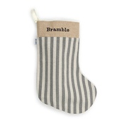 Mutts & Hounds - Flint Stripe Brushed Cotton Christmas Stocking