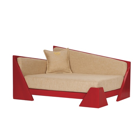 Cherry Red Contemporary  Dog Sofa 2