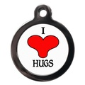 I Love Hugs Pet ID Tag