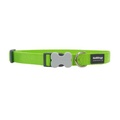 Red Dingo Plain Dog Collar - Lime Green