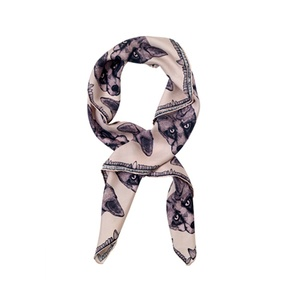 Fox Print Scarf in Pink