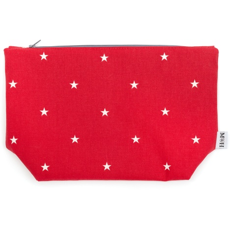 Cranberry Star Cotton Wash Bag 2