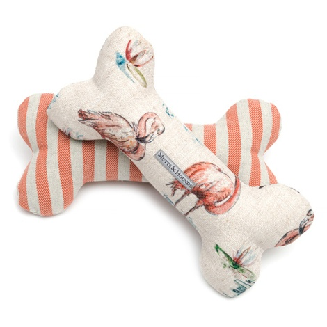 Flamingo Squeaky Bone Dog Toy 3