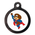 Flying Superdog Pet ID Tag