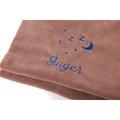 Personalised Brown Snooze Pet Blanket - Italic Font 2