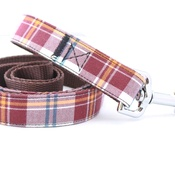 Pet Pooch Boutique - Mocha Barkberry Plaid Lead
