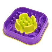 PJ Pet Products - 2 in 1 Anti Gobble Feeder and Interactive Game -Purple