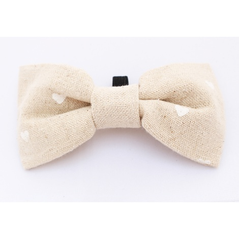 Hessian Hearts Bow Tie