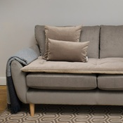 The Lounging Hound - Lustre Velvet Sofa Topper - Taupe