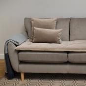 The Lounging Hound - Lustre Velvet Sofa Topper - Taupe