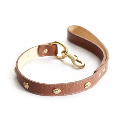Woof Leather Dog Lead - Brown