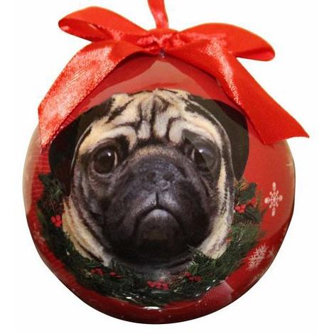 Pug Christmas Bauble