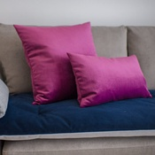 The Lounging Hound - Velvet Scatter Cushion - Boysenberry