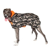 PetsPyjamas - Personalised Green Camo Sighthound Coat