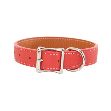 Tuscany Leather Dog Collar – Orange