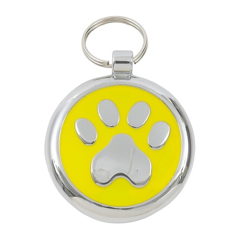 Smarties Yellow Paw Pet ID Tag