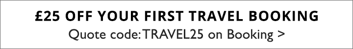 TRAVEL - £25 off fist travel booking